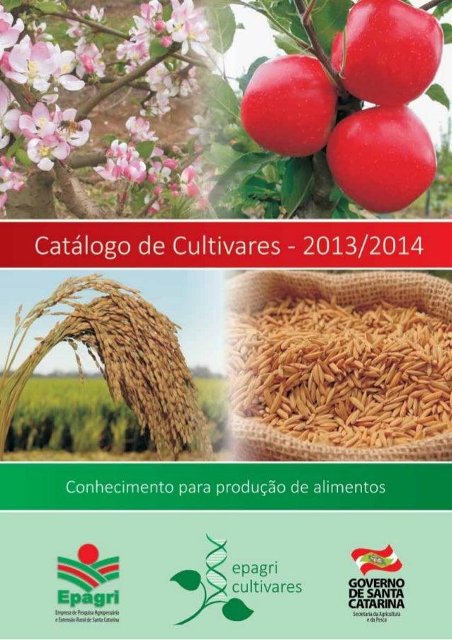 Epagri Catálogo de cultivares 2013/14