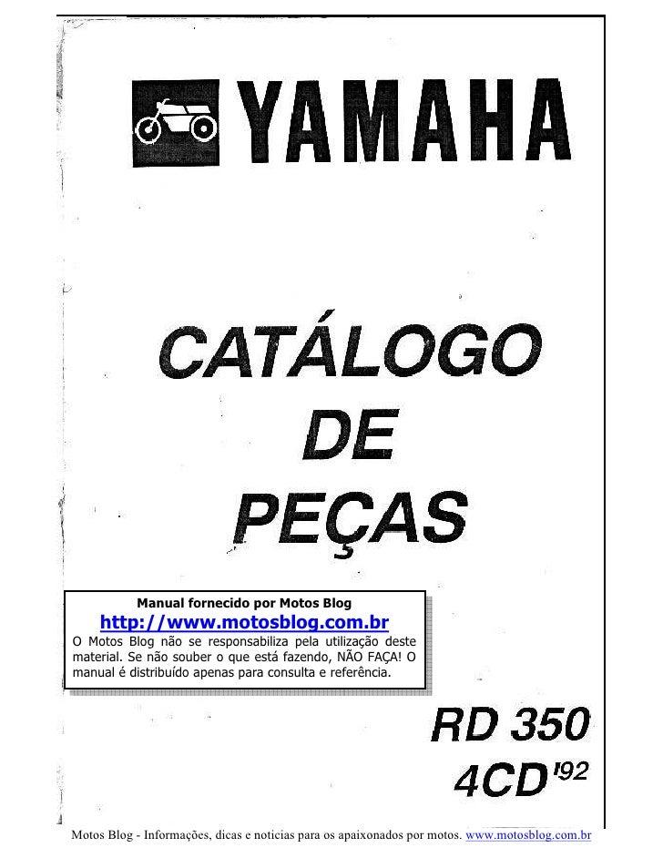 Catalogo de peças rd 350