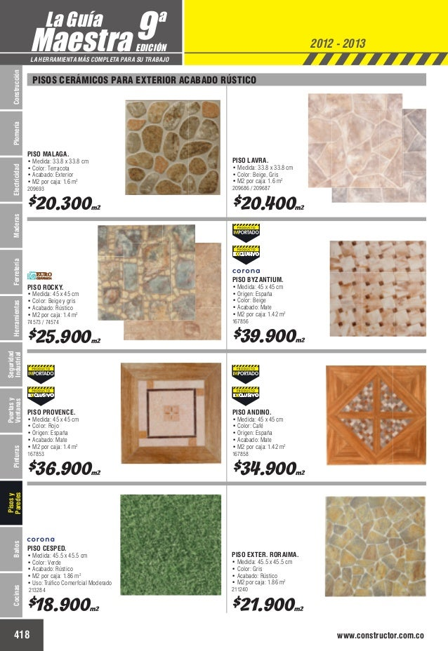 Catalogo de precios baldosas for Baldosas exterior precios