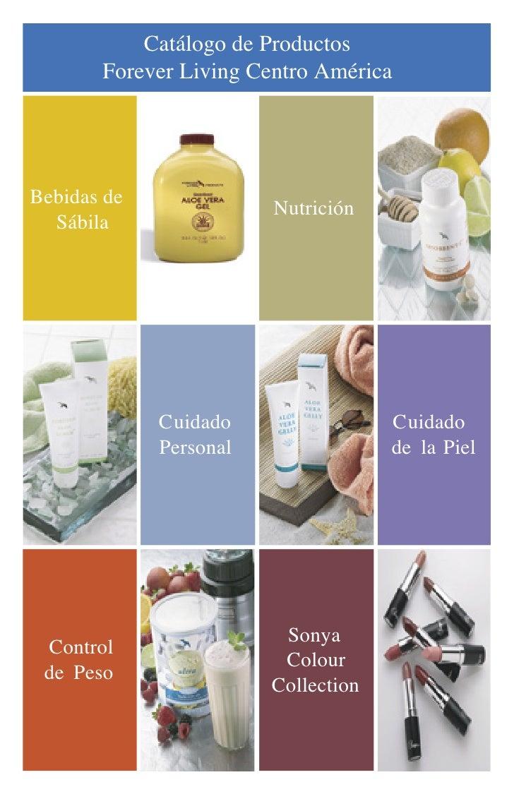 Catálogo de Productos        Forever Living Centro América     Bebidas de                         Nutrición   Sábila      ...