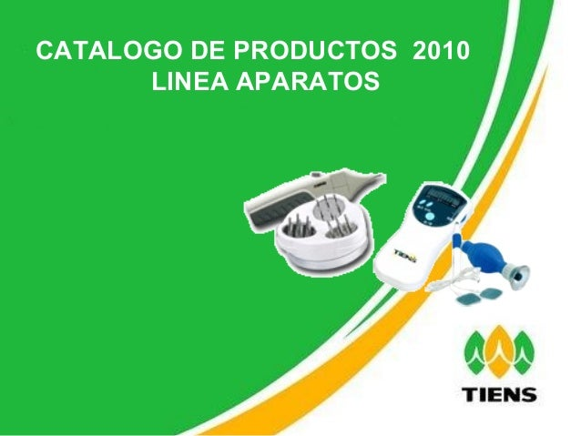 CATALOGO DE PRODUCTOS  2010 LINEA APARATOS