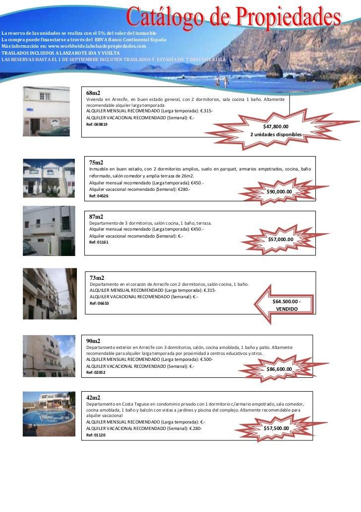 Catalogo de propiedades