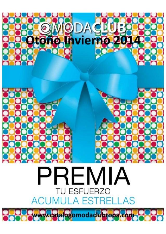 Catalogo de Regalos Acumula Estrellas Moda Club Premios Otono Invierno 2014