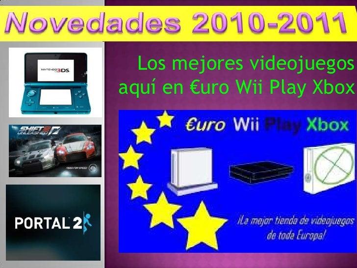 Los mejores videojuegos aquí en €uro Wii Play Xbox<br />