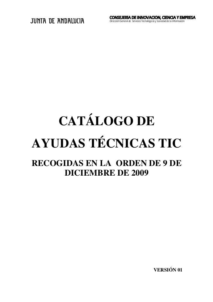 CONSEJERÍA DE INNOVACIÓN, CIENCIA Y EMPRESA                Dirección General de Servicios Tecnológicos y Sociedad de la In...
