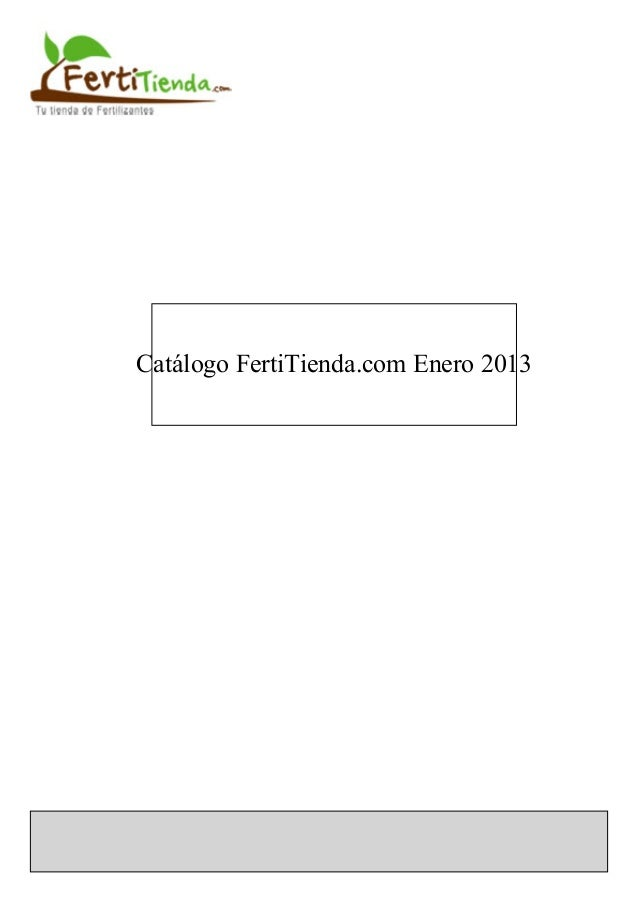 Catalogo fertitienda enero 2013