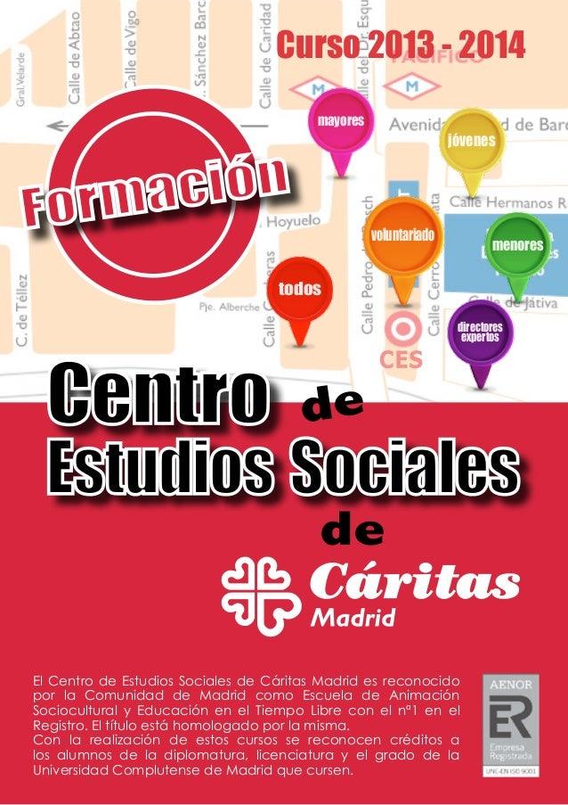 Catalogo de formación del Centro de Estudios Sociales (Curso 2013/2014)