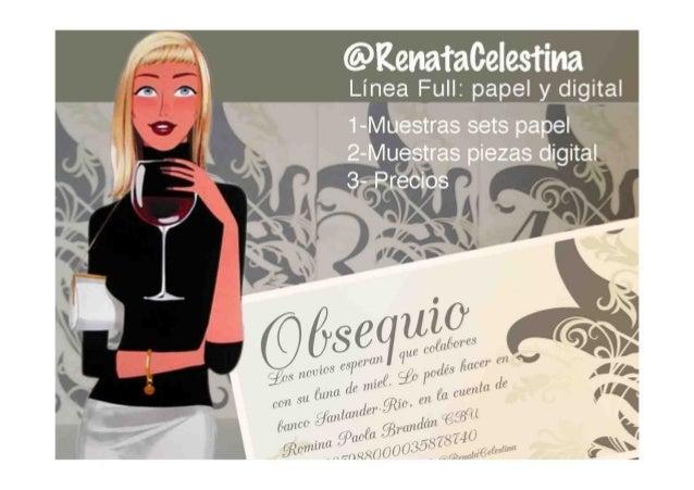 Invitaciones Catalogo Linea Full @RenataCelestina