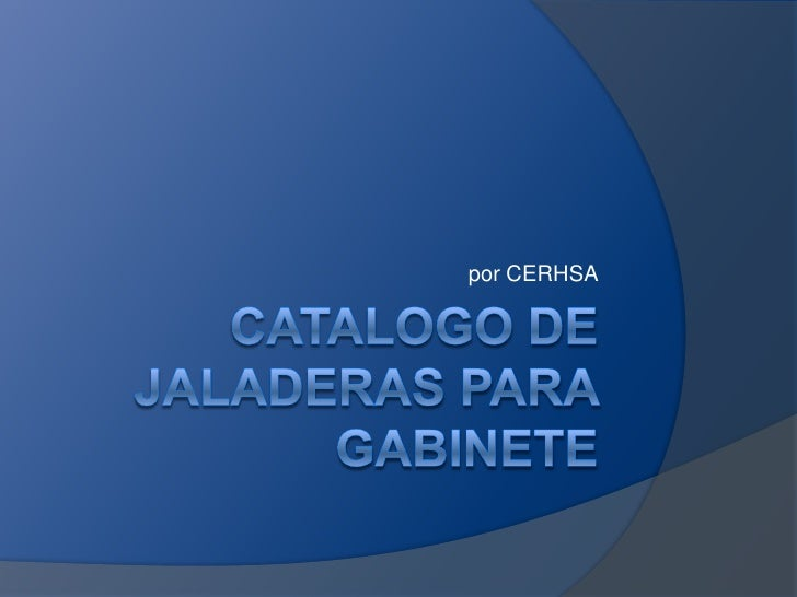 Catalogo Jaladeras