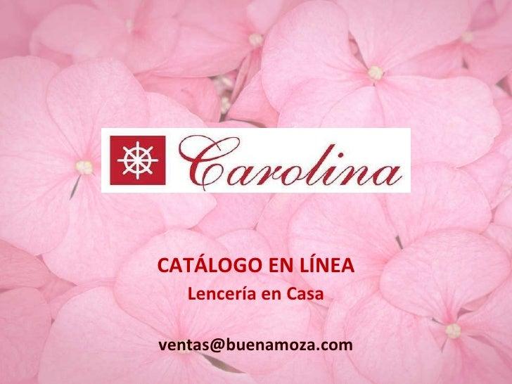 Catalogo Carolina Julio 2010