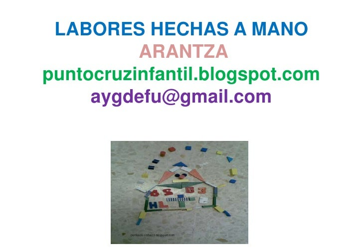 Labores hechas a mano/Crafts made by hand