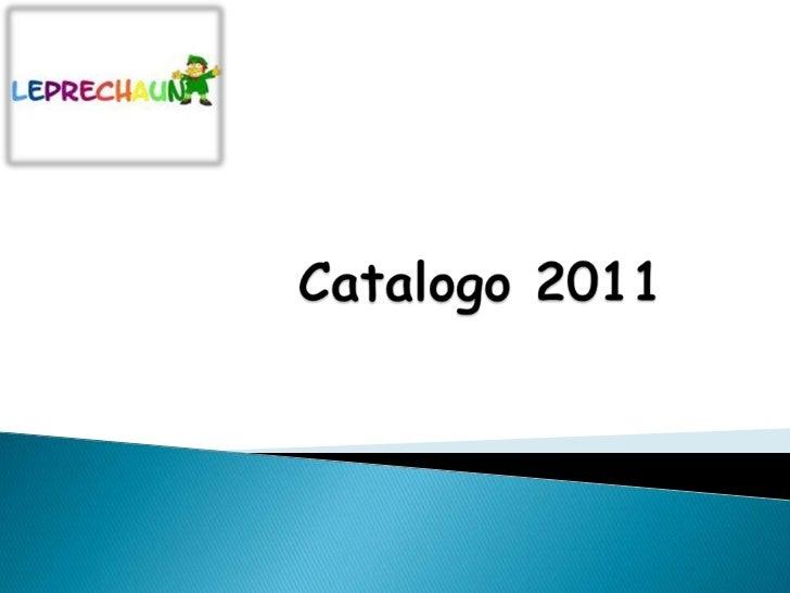 Catalogo 2011<br />