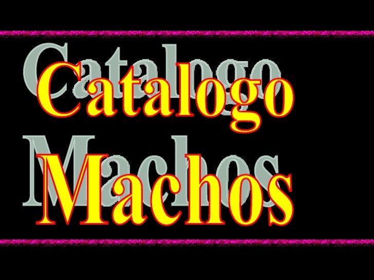 Catalogo Machos