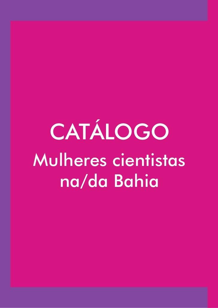Catálogo_Mulheres cientistas na/da Bahia