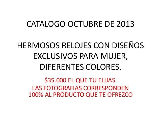 Catalogo octubre de 2013 DeMujer.co