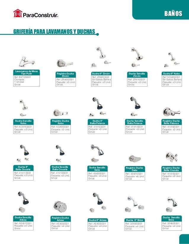 Griferia Para Baño Grival:Catálogo ParaConstruir