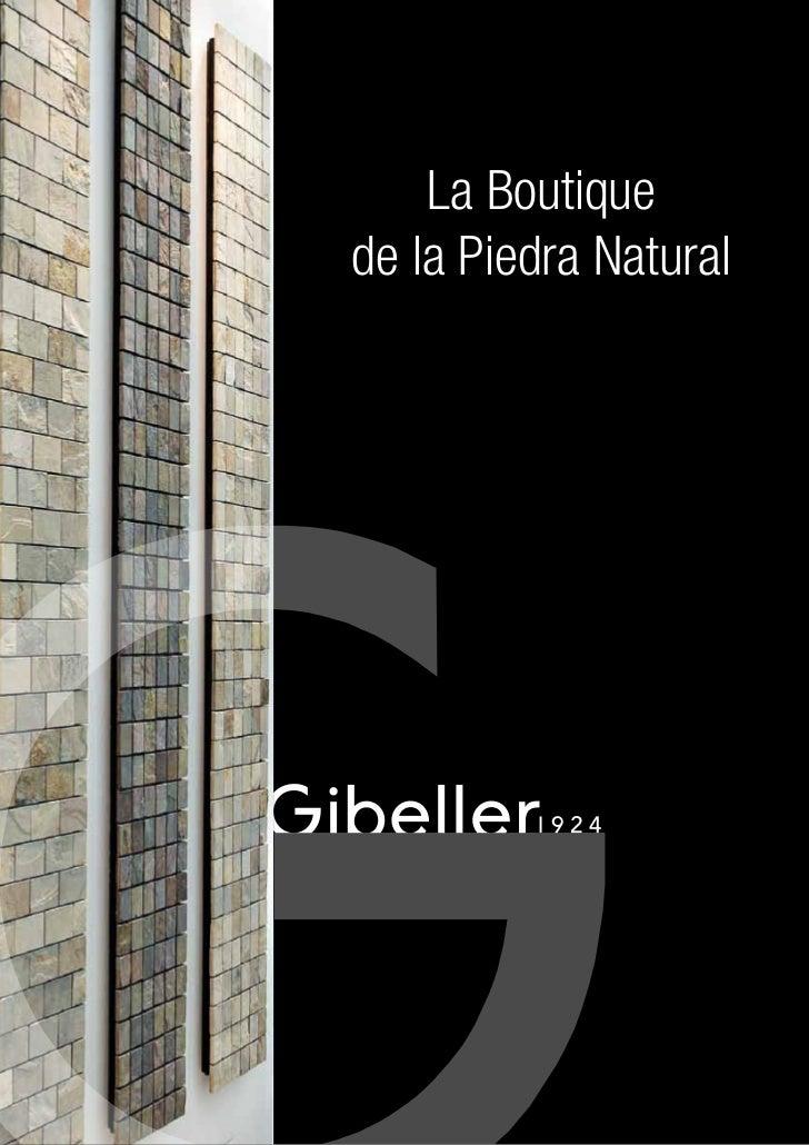 """Gibeller """"piedra natural y mosaicos de piedras"""""""