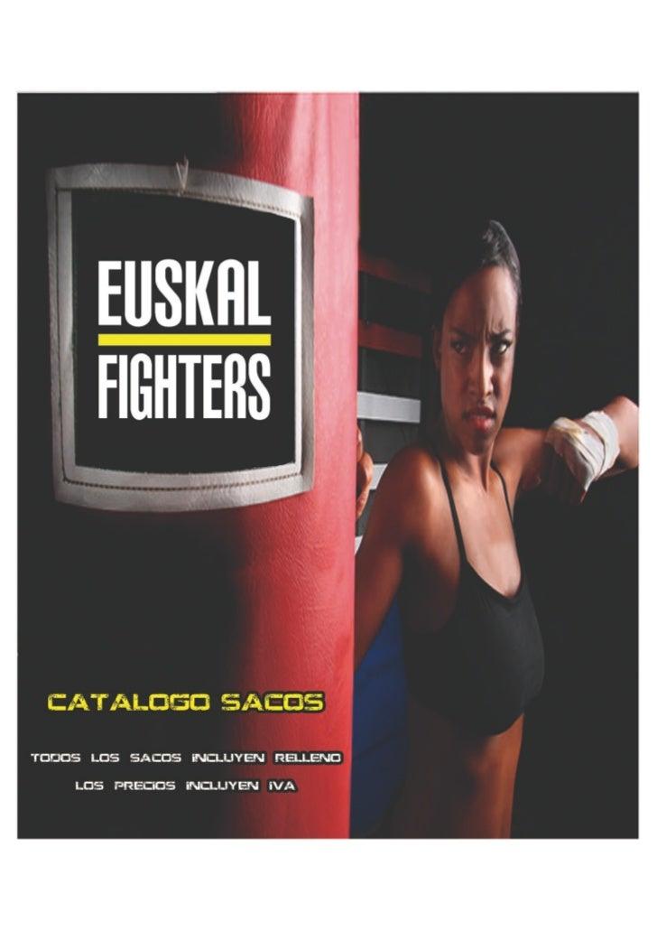 Catalogo sacos rellenos euskalfighters.com
