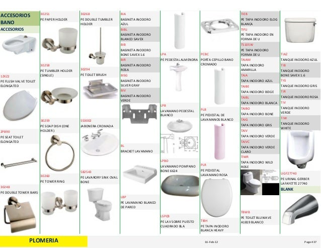 Catalogo sanitario for Accesorios sanitarios