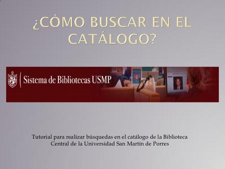 Catálogo SIBUS