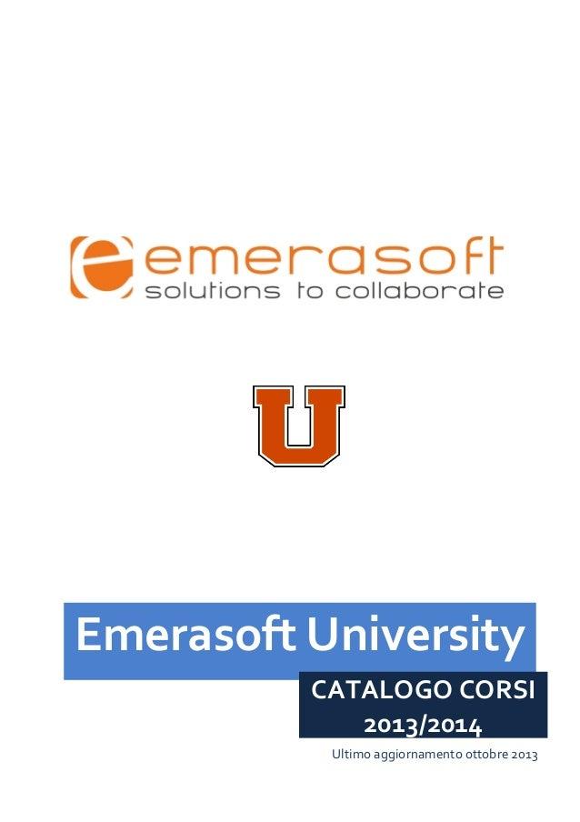 Catalogo corsi Emerasoft 2013 - 2014