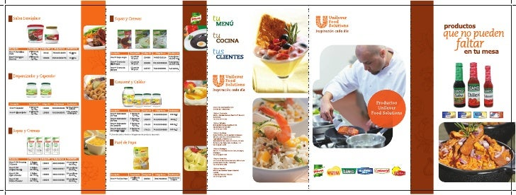 Catalogo ventas foodsolutions unilever