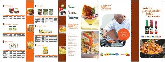 Catalogo ventas foodsolutions de Unilever en Comprabien Food Service Guatemala