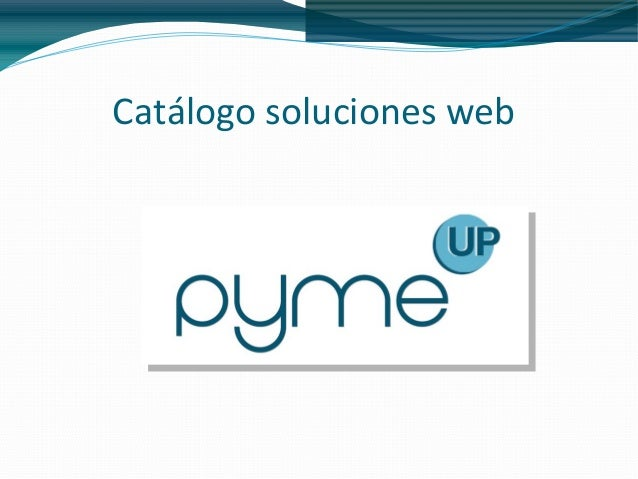 Catálogo soluciones web
