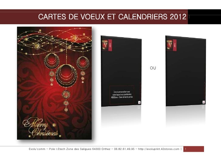 CARTES DE VOEUX ET CALENDRIERS 2012                                                                                     OU...
