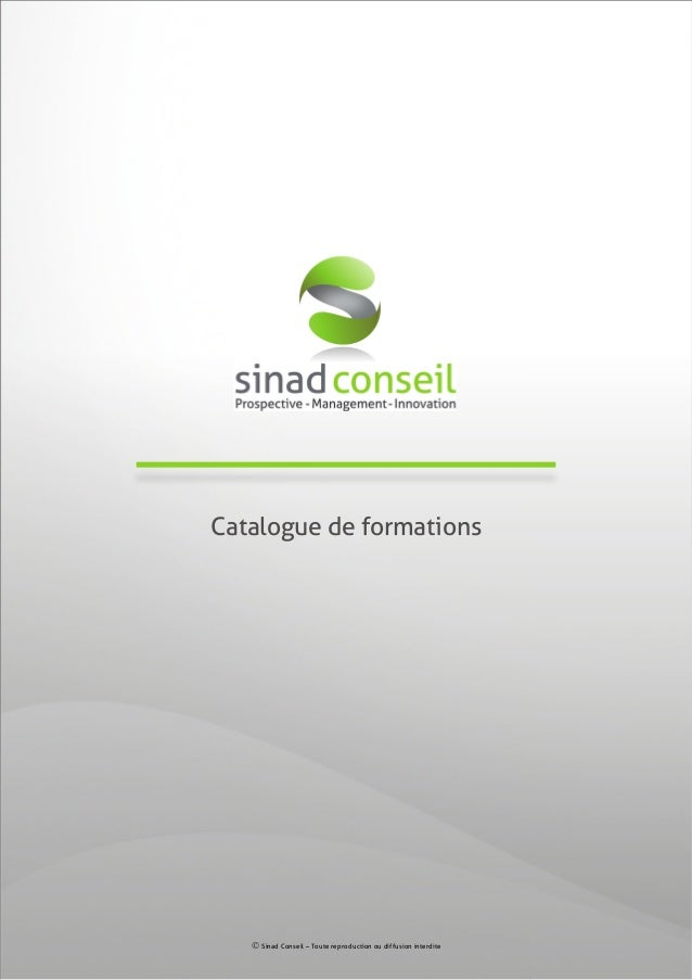 Catalogue formations 2013 / cabinet Sinad Conseil