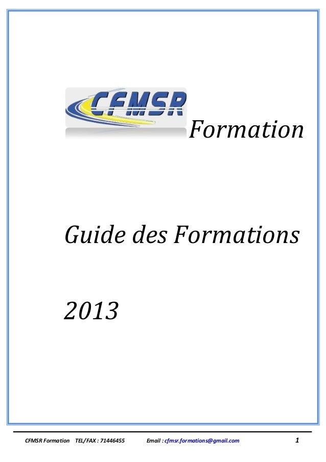Catalogue 2013 CFMSR