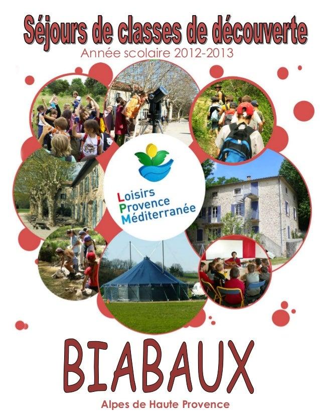 Année scolaire 2012-2013   Alpes de Haute Provence   1