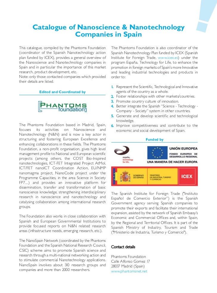 Nano Companies in Spain