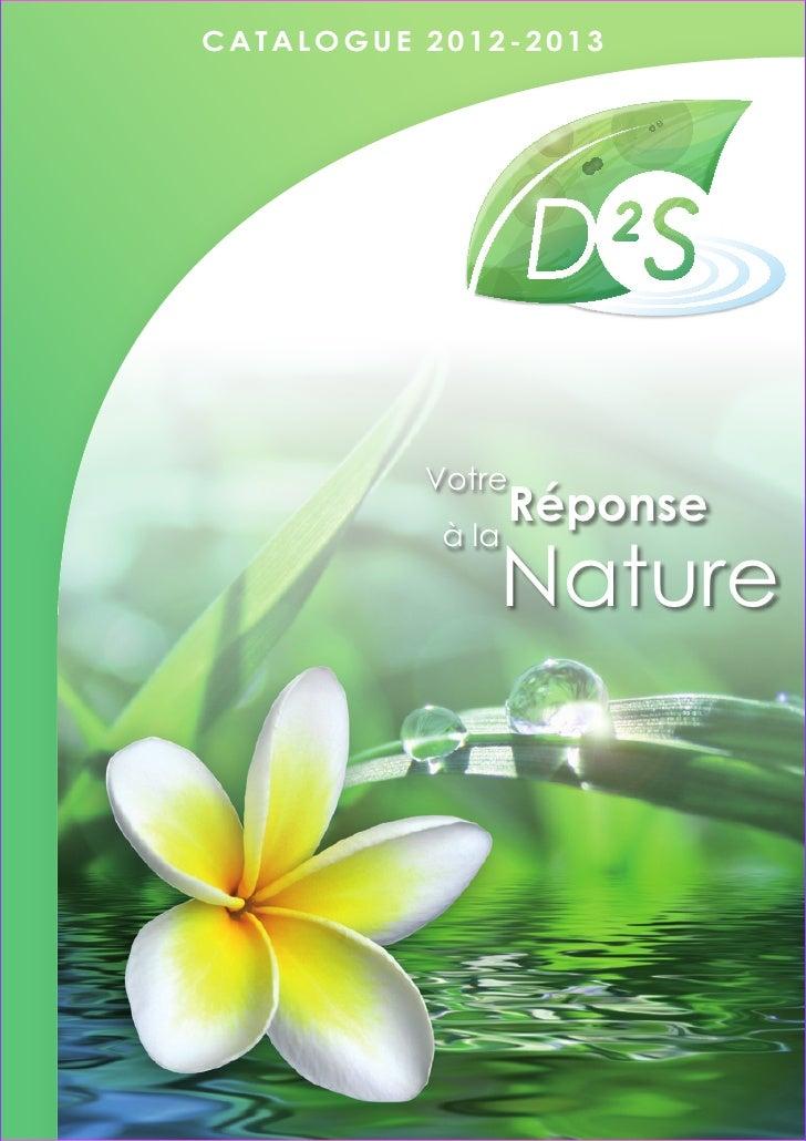 CATALOGUE 2012-2013          Votre                  Réponse           à la              Nature