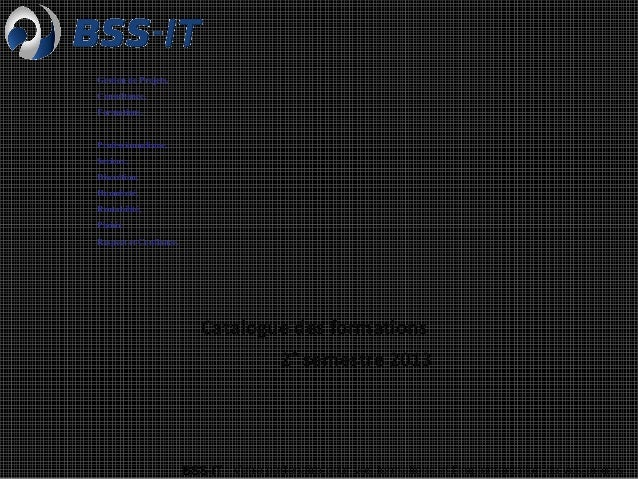 Catalogue des formations BSS-IT