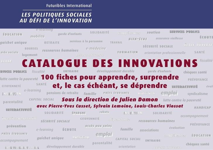 Futuribles International                   LES POLITIQUES SOCIALES                 AU DÉFI DE L'INNO VATION               ...