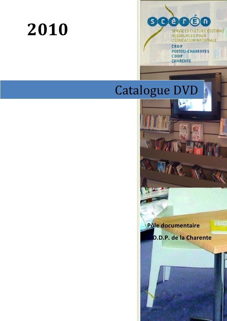 Catalogue dvd 2010