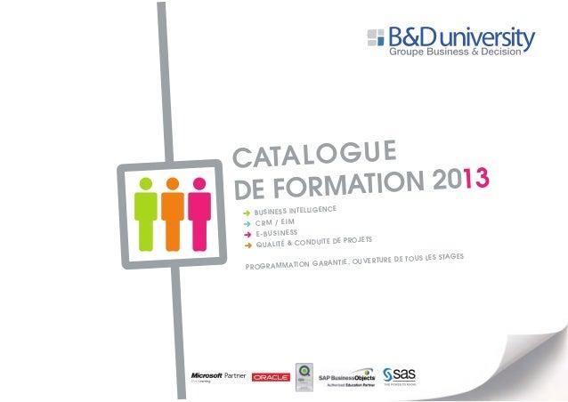 Catalogue de formation 2013