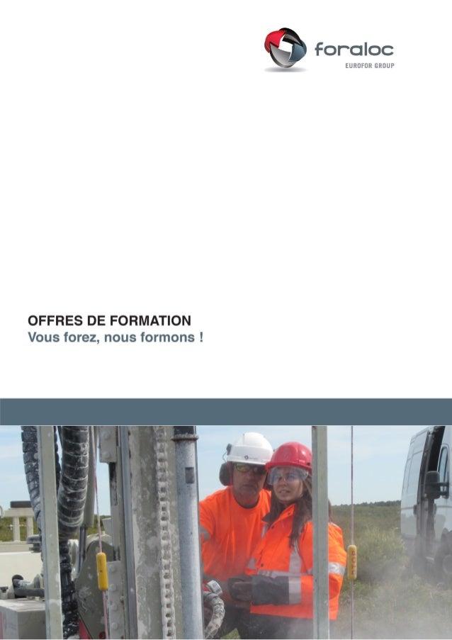 Référence Titre de la formation Page Durée Lieu Prix HT /pers. /jour J MDF/2TN MÉTHODES DE FORAGE P. 5 2 jours Lyon 290,00...