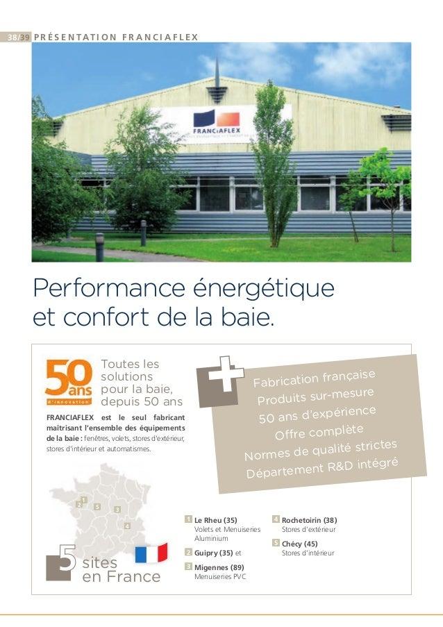 catalogue franciaflex stores ext rieurs. Black Bedroom Furniture Sets. Home Design Ideas