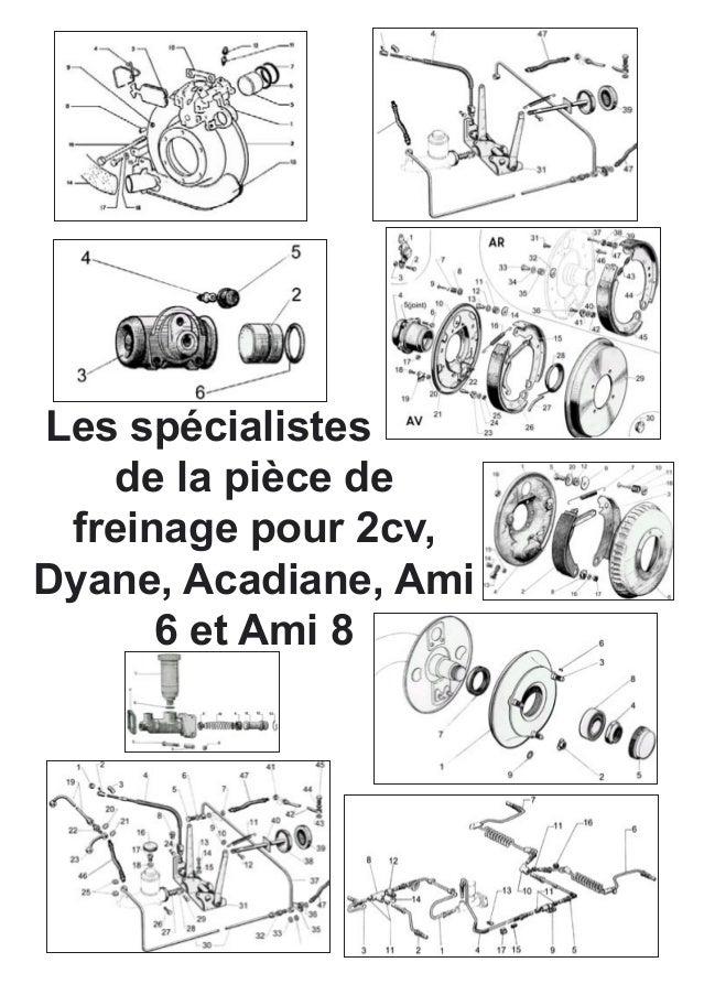 Les spécialistes de la pièce de  freinage pour 2cv, Dyane, Acadiane, Ami 6 et Ami 8