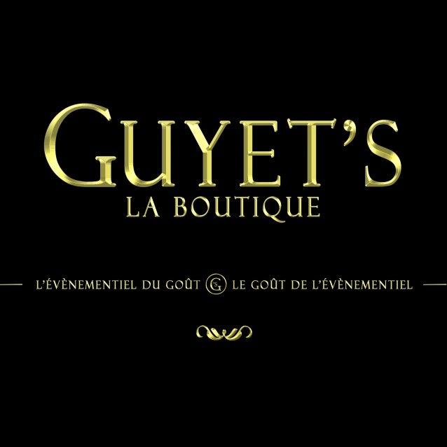 Catalogue guyet's la boutique