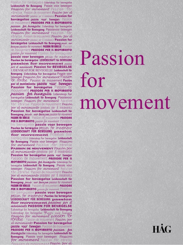 Passion for movement