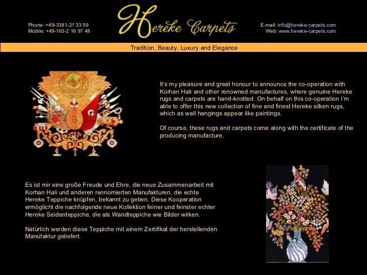 Current Catalogue: Hereke Carpets