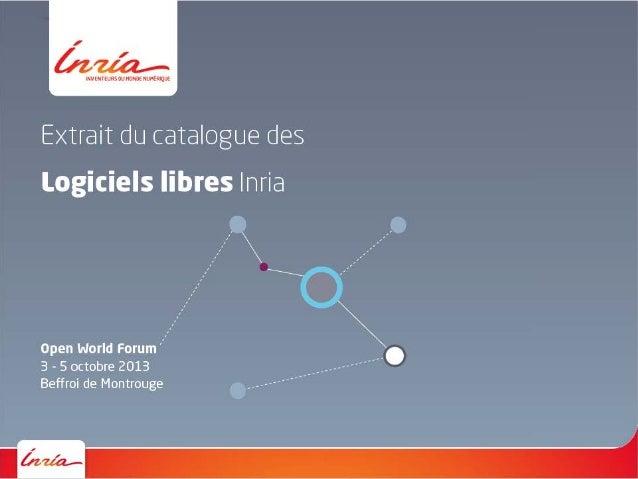 Inria - Catalogue logiciels