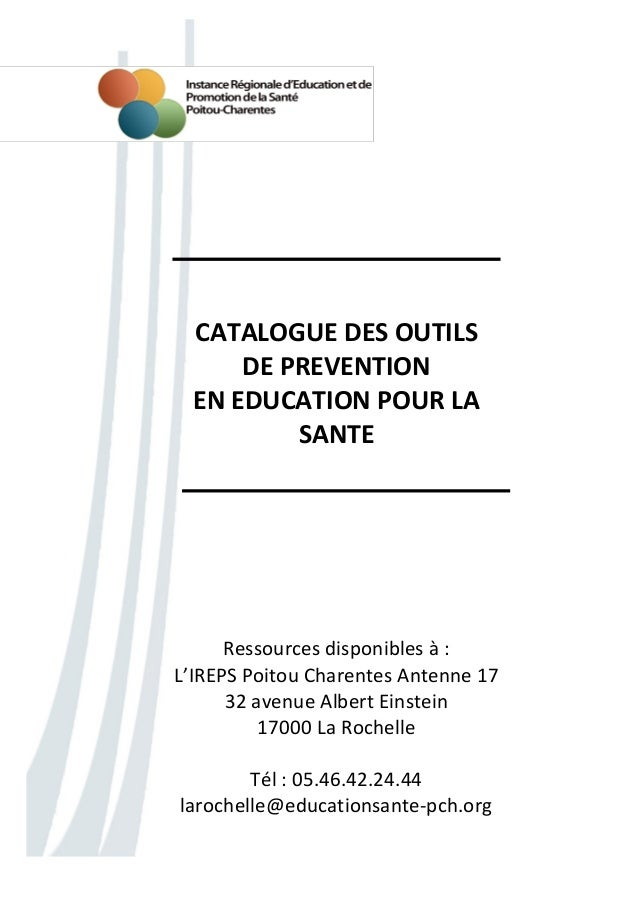 IREPS17 - Catalogue Outils Pédagogiques Antenne 17