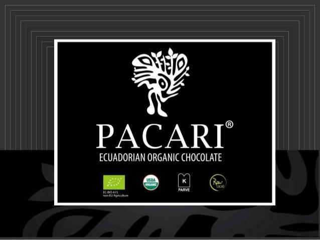 Pacari est : •Le premier chocolat noir bio entièrement fabriqué en Equateur • 100% Arriba Nacional • Issu du commerce équi...