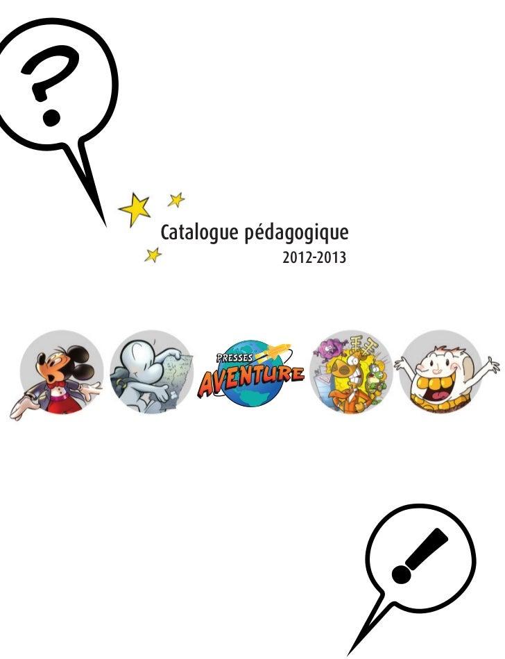 Catalogue pédagogique             2012-2013