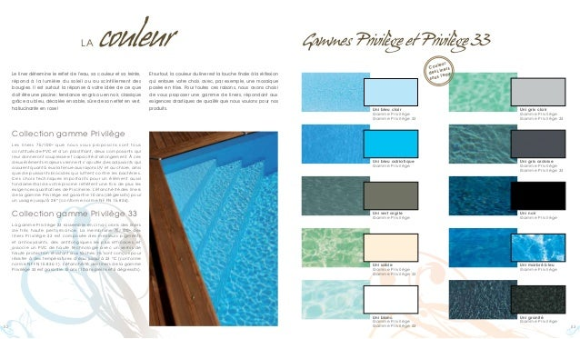 Catalogue piscinelle les piscines les plus design - Couleur piscine liner ...