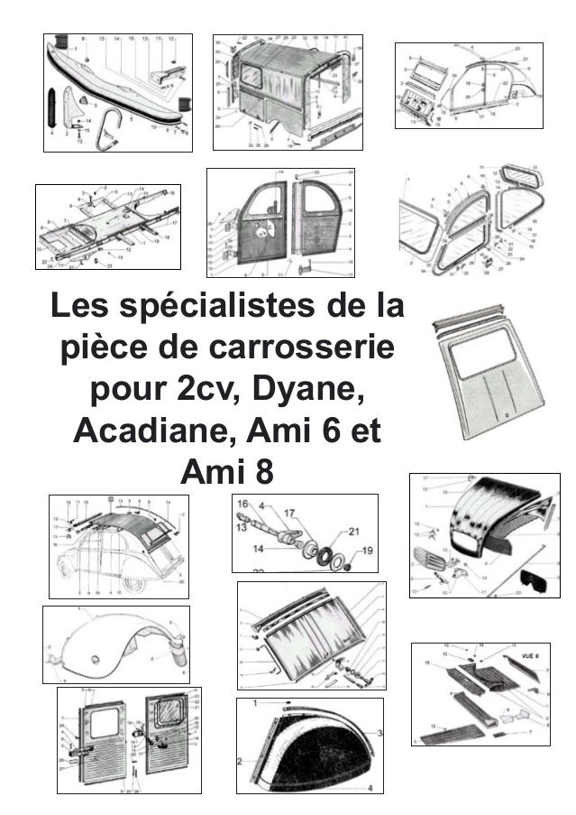 catalogue special carrosserie 2cv dyane acadiane ami 6 ami 8 spare pa. Black Bedroom Furniture Sets. Home Design Ideas